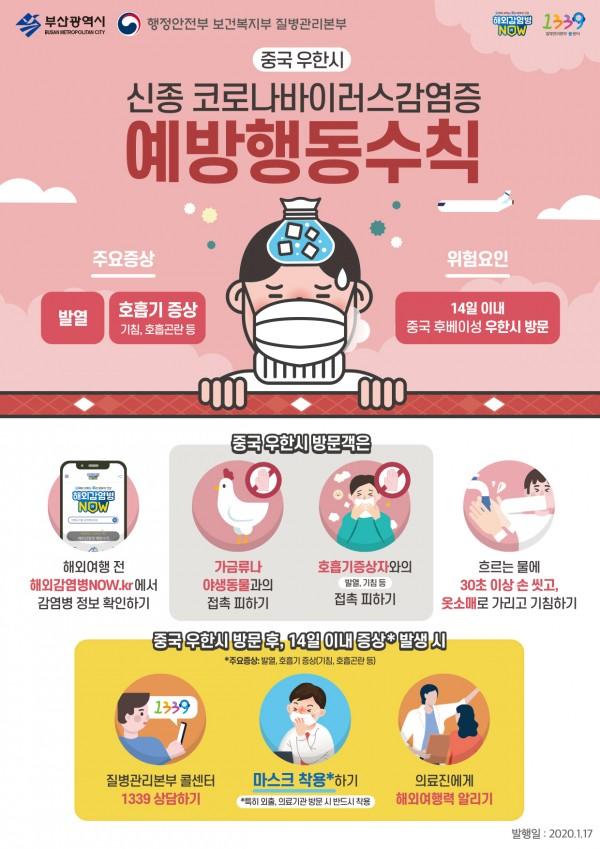 신종 코로나바이러스감염증 예방수칙 포스터 관련이미지